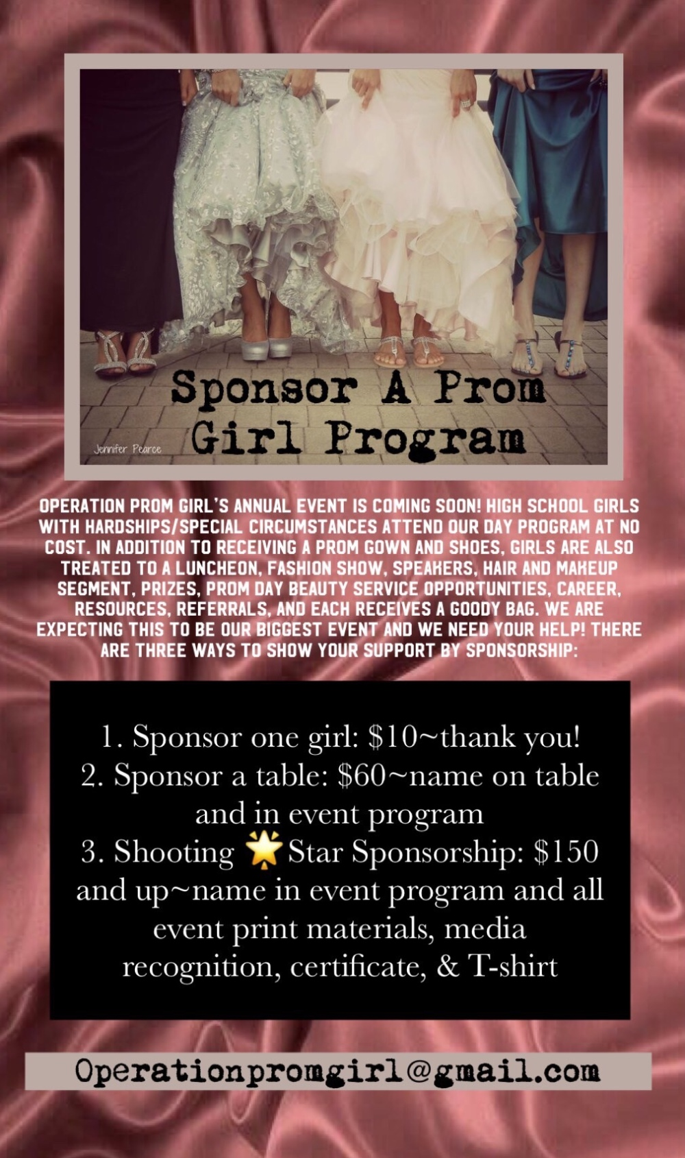 4bfc737df623 2019 Sponsorship Opportunities – OPERATION PROM GIRL